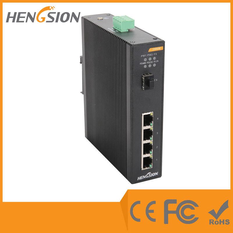 1 Gigabit FX SFP Fiber Port / 4 Gigabit TX Ports Industrial
